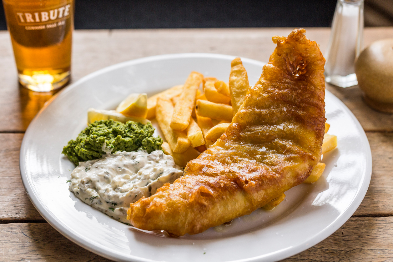 Fish and Chips at The Golden Lion