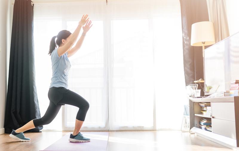 A virtual gym class